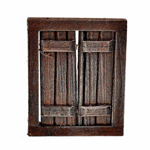 Nativity setting, window with double doors and frame, 5.5x4.5cm s1
