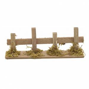 Nativity setting, wooden fence 15x3cm s1