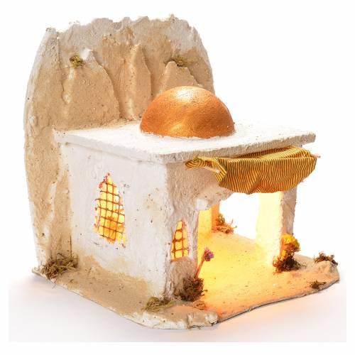 Neapolitan Nativity 35x35x35cm Arabian cabin s2
