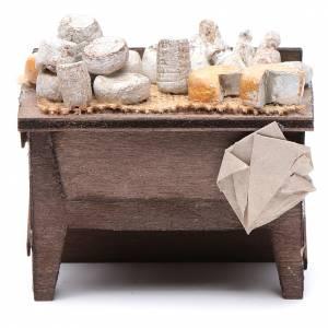 Neapolitan Nativity Scene: Neapolitan Nativity accessory: cheese table measuring 7x8.5x6cm