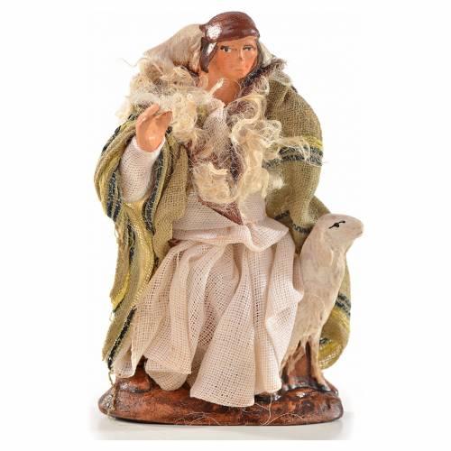 Neapolitan Nativity, Arabian style, man with sheep 6cm s1