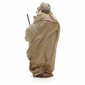 Neapolitan Nativity figurine, Arabian man with stick, 30 cm s3