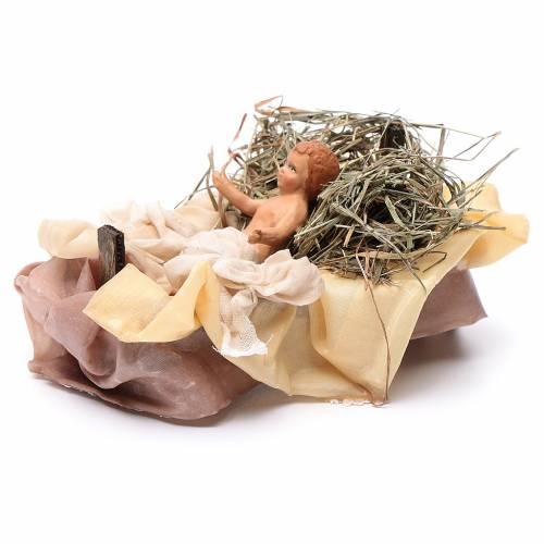 Neapolitan Nativity figurine, baby Jesus, 18 cm s2