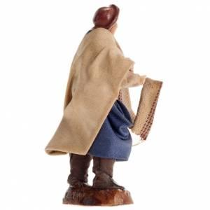 Neapolitan Nativity figurine, Cloth seller 8cm s2