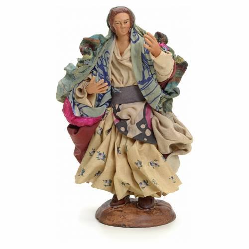Neapolitan Nativity figurine, gypsy, 18 cm s1