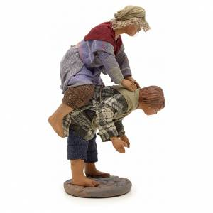 Neapolitan Nativity figurine, kids playing, 24 cm s4