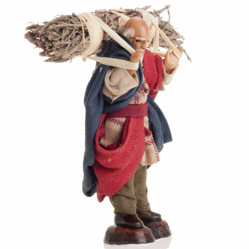 Neapolitan nativity figurine, old woodman 8cm s2