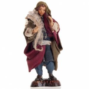 Neapolitan nativity figurine, piper 8cm s1