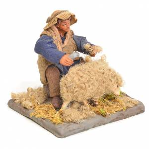 Neapolitan Nativity figurine, sheep shearer, 10 cm s2