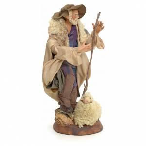 Neapolitan Nativity figurine, shepherd, 18 cm s2