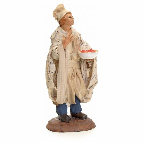 Neapolitan Nativity figurine, waiter, 18 cm s2