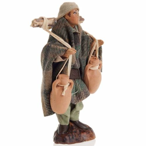 Neapolitan nativity figurine, water carrier 8cm s2