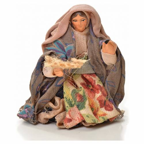 Neapolitan Nativity figurine, woman, beggar 6 cm s1
