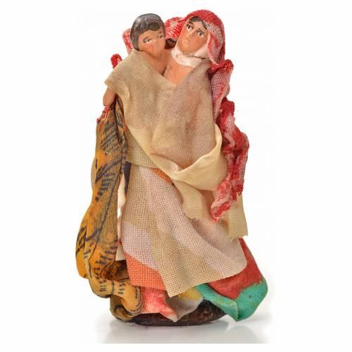 Neapolitan Nativity figurine, woman holding child 6 cm s1