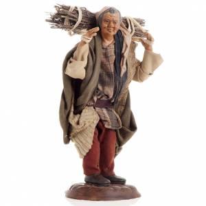 Neapolitan nativity figurine, woodman 18cm s1