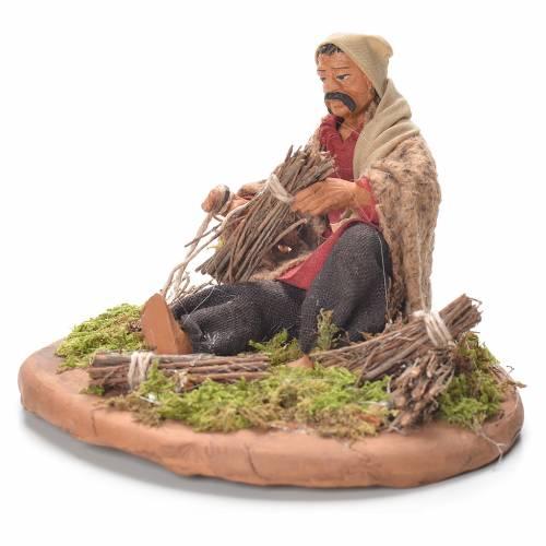 Neapolitan Nativity Scene 12cm, broom maker figurine s2