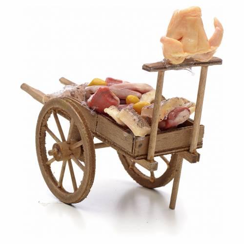 Neapolitan Nativity scene accessory, cart meat and lard s3