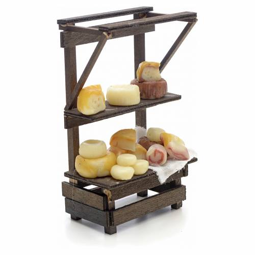 Neapolitan Nativity scene accessory, cured meat and cheese stall s2