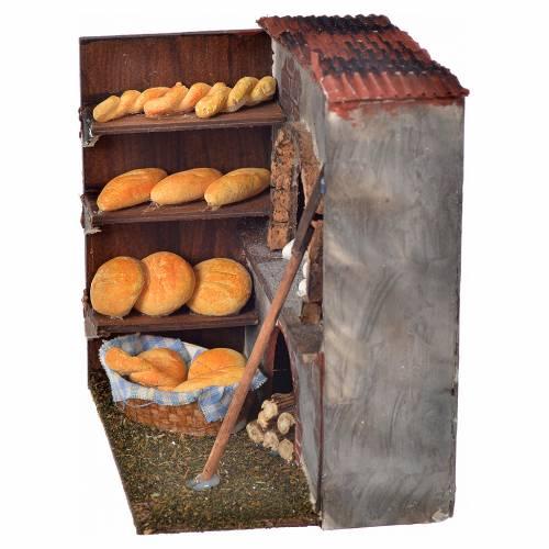 Neapolitan Nativity scene accessory, oven with bread 14x10x9cm s2