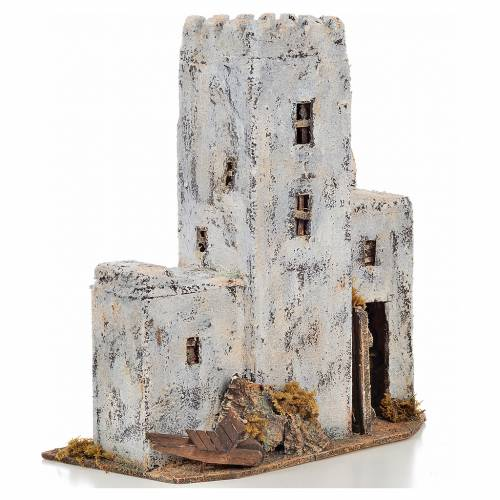 Neapolitan Nativity scene accessory, Palestinian house 30cm tall s2