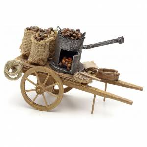 Neapolitan Nativity Scene: Neapolitan Nativity scene accessory, roasted chestnuts cart