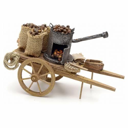 Neapolitan Nativity scene accessory, roasted chestnuts cart s1