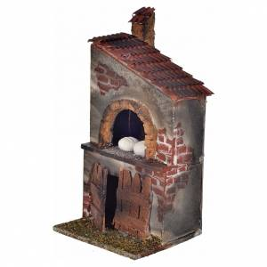 Neapolitan Nativity scene accessory, wood-burning oven, chimney s2