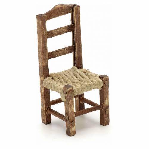 Neapolitan set accessory wood chair h 4.5 cm s1