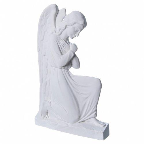 Ángel brazos entrelazados 25 cm, de mármol s2