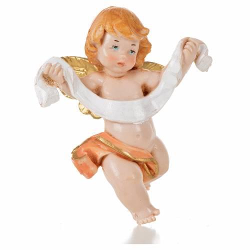 Ángel con paño rosado Fontanini 7 cm. símil porcelana s1