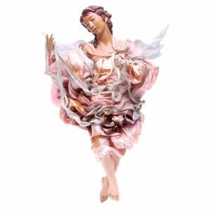 Belén napolitano: Ángel roko 45 cm vestido rojo belén Nápoles
