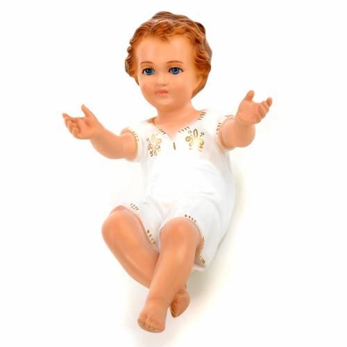 Niño Jesús cm 27 acostado ojos cristal Landi s1