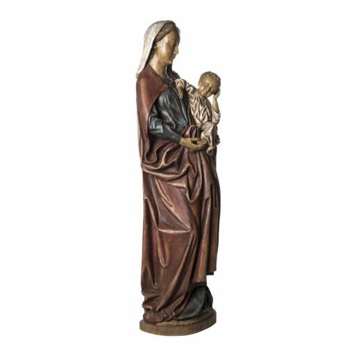 Notre Dame de Boquin statue, 145 cm in painted wood, Bethléem s2