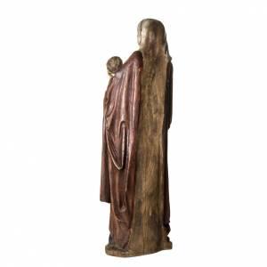 Notre Dame de Boquin statue, 145 cm in painted wood, Bethléem s4