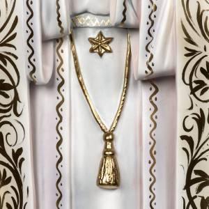 Notre Dame de Fatima 120cm avec bergers pâte à bois s4