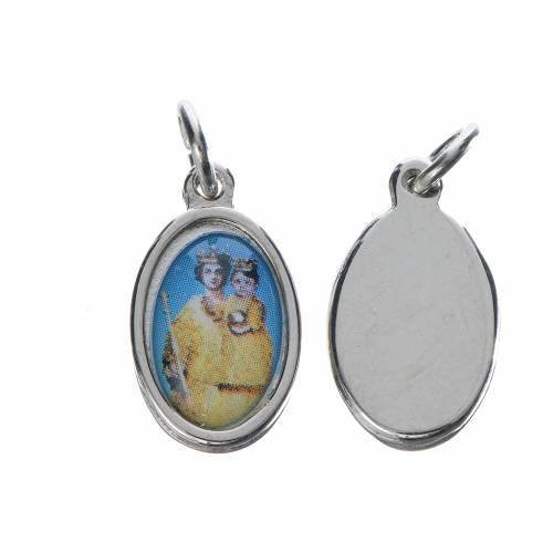 Notre Dame de Grace medal in silver metal, 1.5cm s1