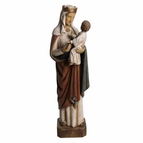 Notre Dame de Pontoise manteau rouge 62 cm bois Bethléem s1