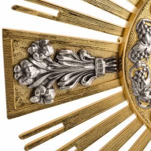 Ostensorio bronzo fuso Evangelisti gigli h 55 cm s3
