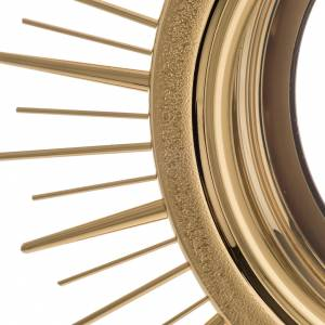 Ostensorio ottone espositore in vetro raggiera s10