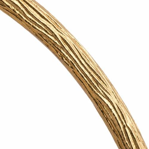 Ostensorio en bronce dorado con ángeles 60cm alto s9