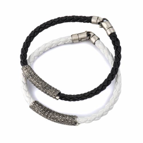 Our Father bracelet in leather s1