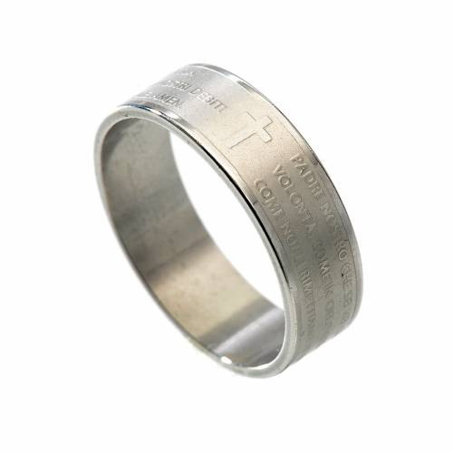 Our Father prayer ring in Italian 1