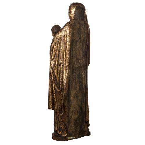 Our Lady of Boquen in gold finishing painted wood 145 cm Bethlee s4