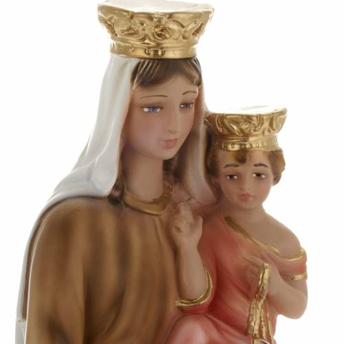 Our Lady of Carmel plaster statue, 40 cm s2