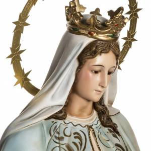 Our Lady of Miracles statue in wood paste, Crystal eyes, 100 cm s9