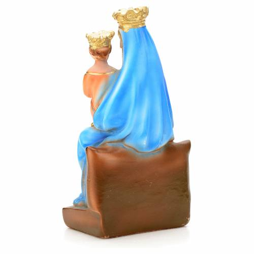 Our Lady of Montenero statue in plaster, 20 cm s4