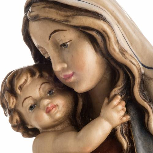 Our Lady of Peace wooden statue painted s3