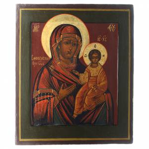 Ancient Russian icons: Our Lady Smolenskaya antique icon, restored 30x25cm XX century