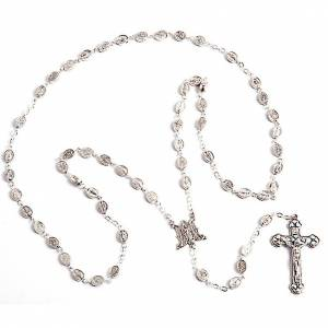 Oval beads metal rosary s1
