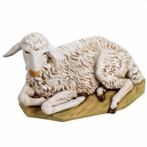 Animales para el pesebre: Oveja acostada 125 cm. resina Fontanini